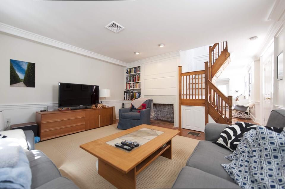Mix of modern decor and historic charm.   #modern #historic #decor   www.facebook.com/pages/Pearson-Properties/270559243029959