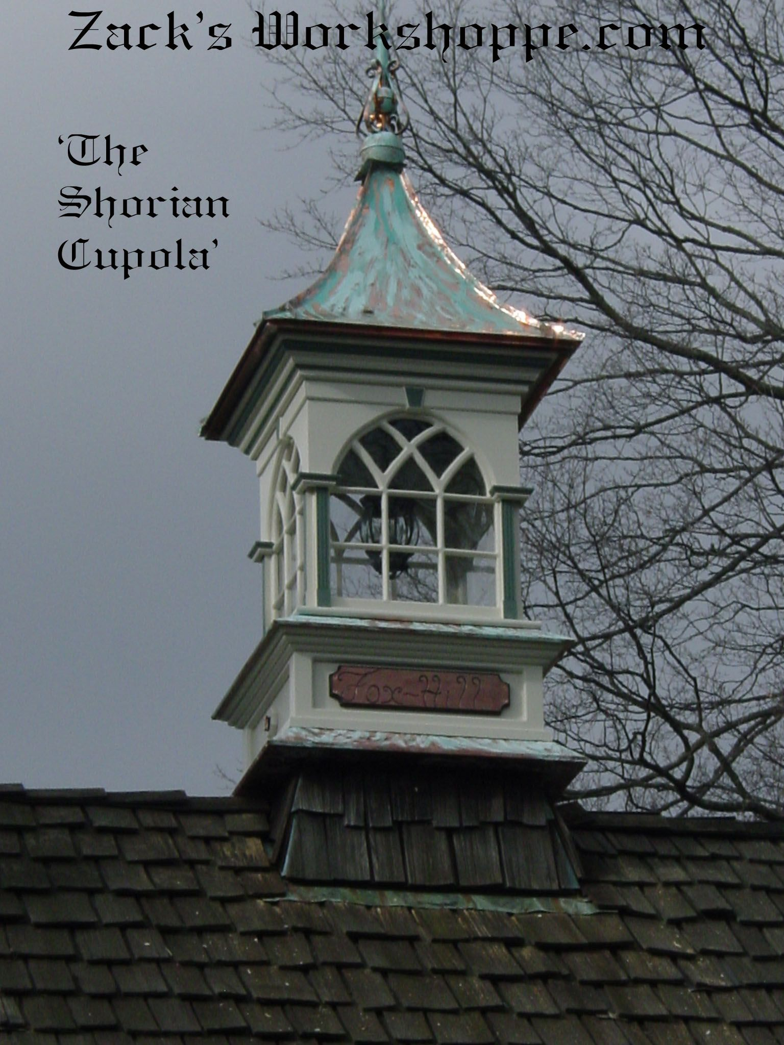 Cupola with copper roof architectural details that for Roof cupola plans