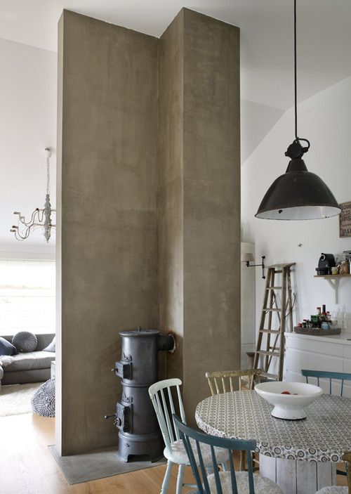 Concrete Pillar As Room Divider... Interior IdeasInterior DesignInterior  StylistScandinavian ...