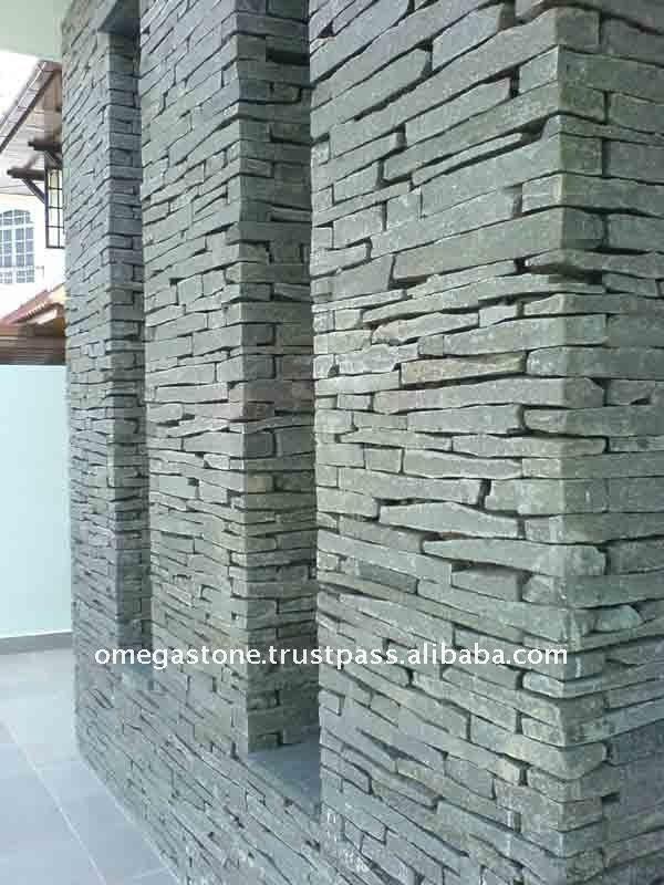 Natural Split Ledge Grey Stone Veneer Slate For External
