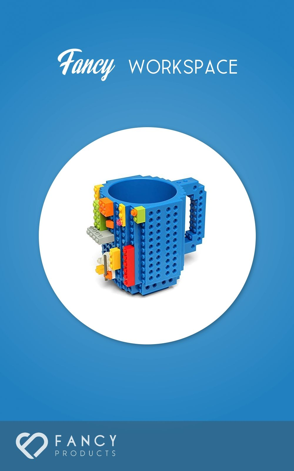 99Oliadesign Free Build Brick Mug 11 Bpa From Blue On 12oz VUpSMGqz