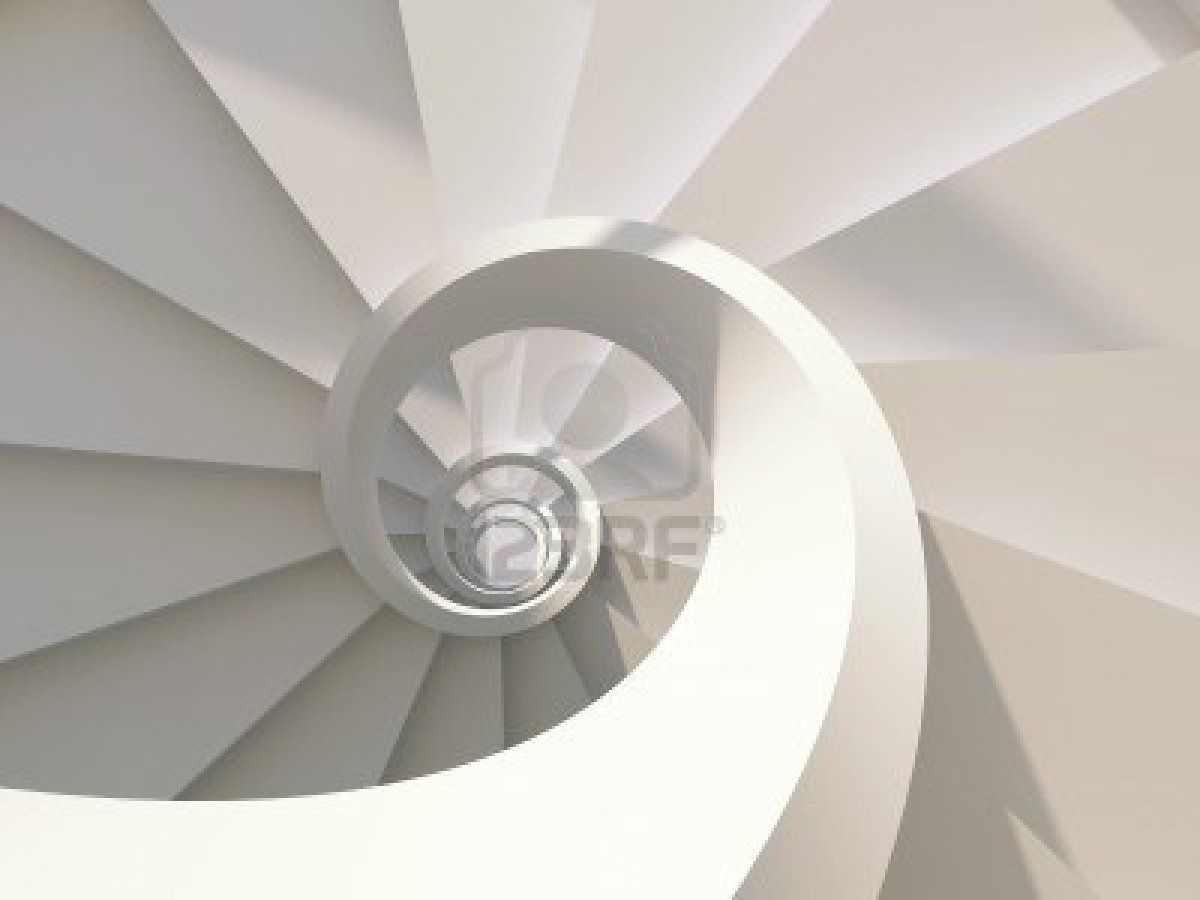 Abstract Spiral Staircase View From Above Staircases