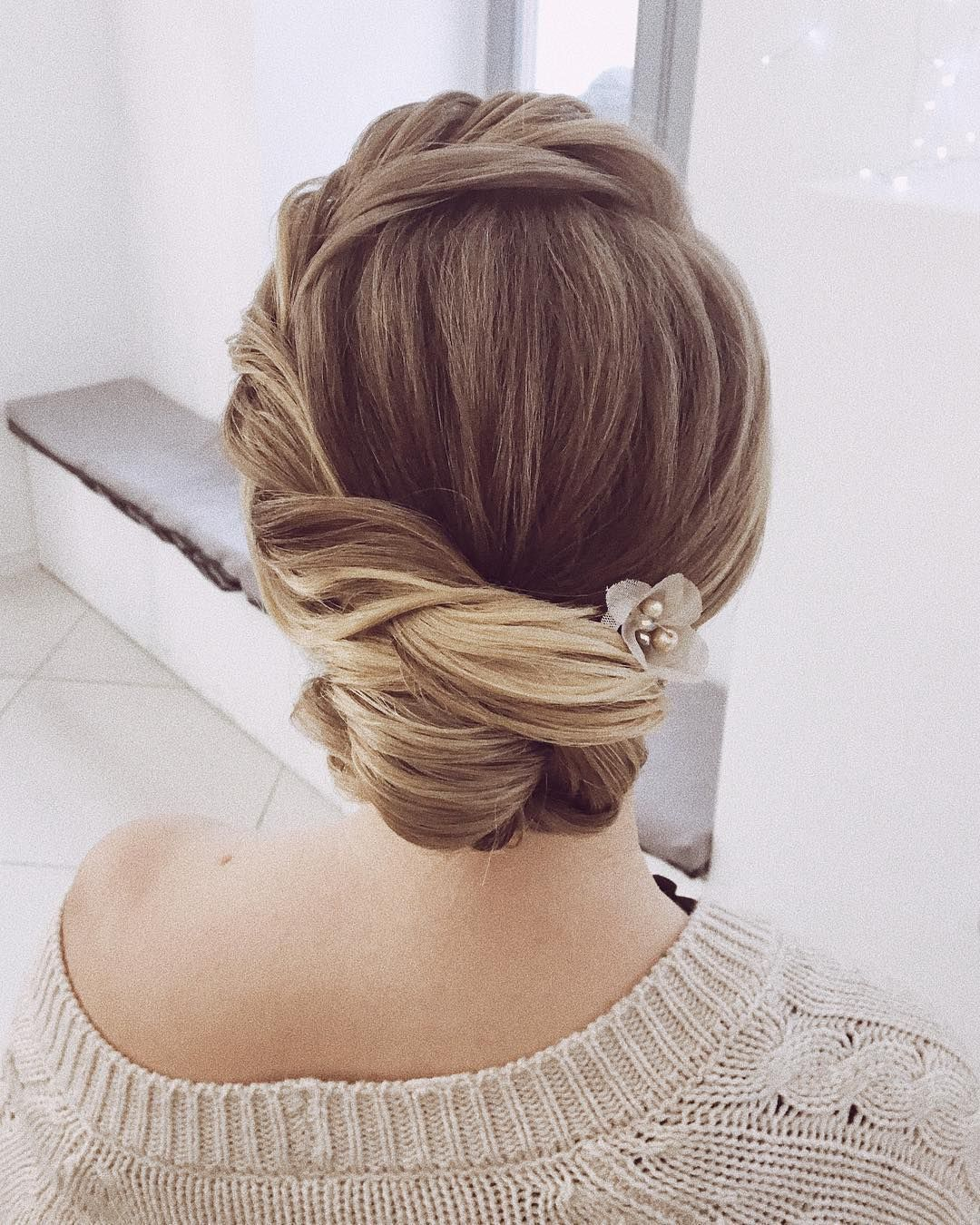 looking for gorgeous wedding hairstyle? classic chignon