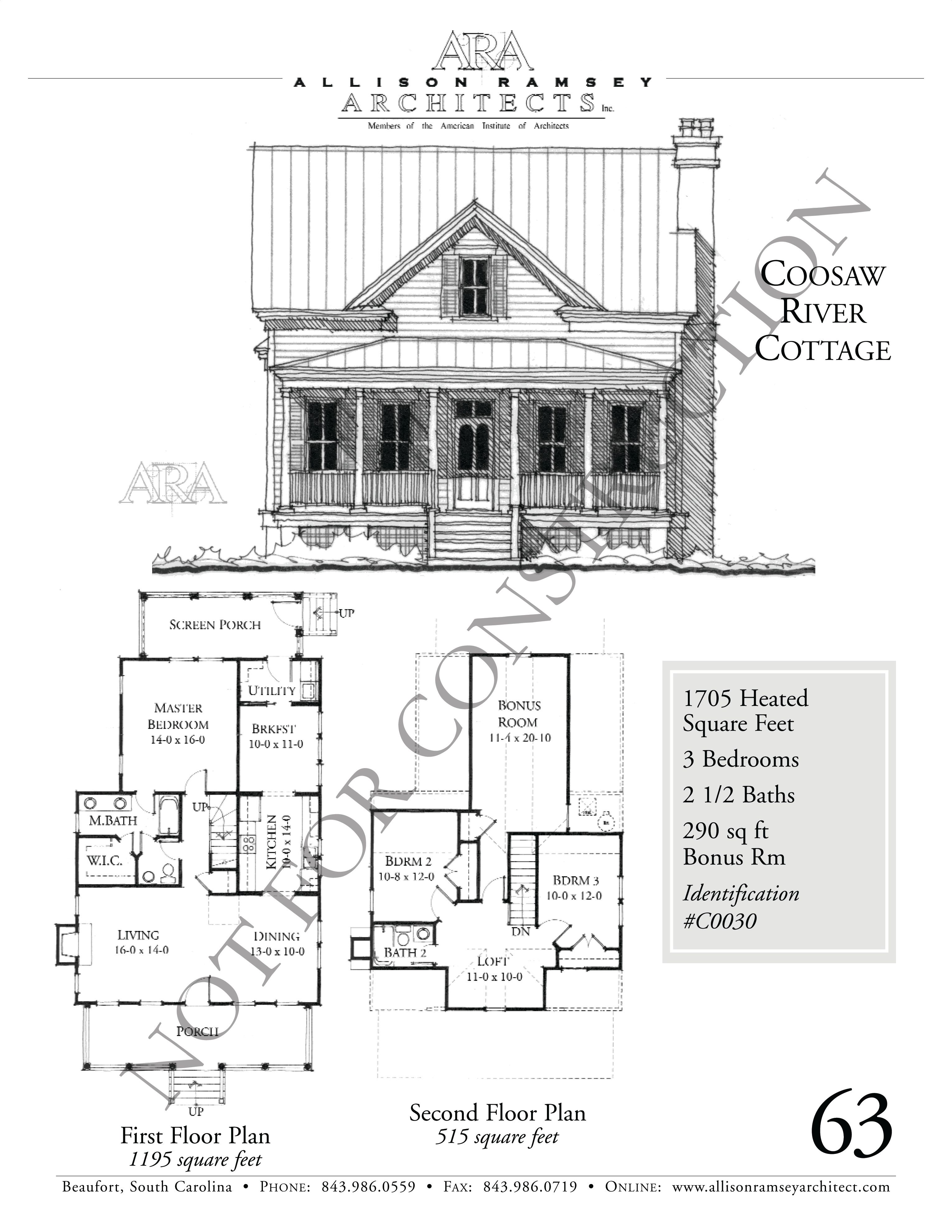 Coosaw River Cottage Allison Ramsey Architects House Plans In All Styles For All Regions River Cottage Cottage House Plans Cottage Floor Plans