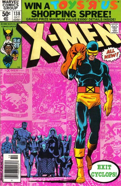 Top Five John Byrne X Men Covers 3 X Men 138 Another Classic X Men Cover That Has Been Homaged Many Times Over Marvel Comic Books Marvel Comics Covers X Men