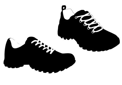 track shoe silhouette sports vector silhouette archives sv stock blog 990