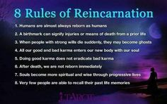 8 Rules of Reincarnation | Reincarnation, Past life, Past ...