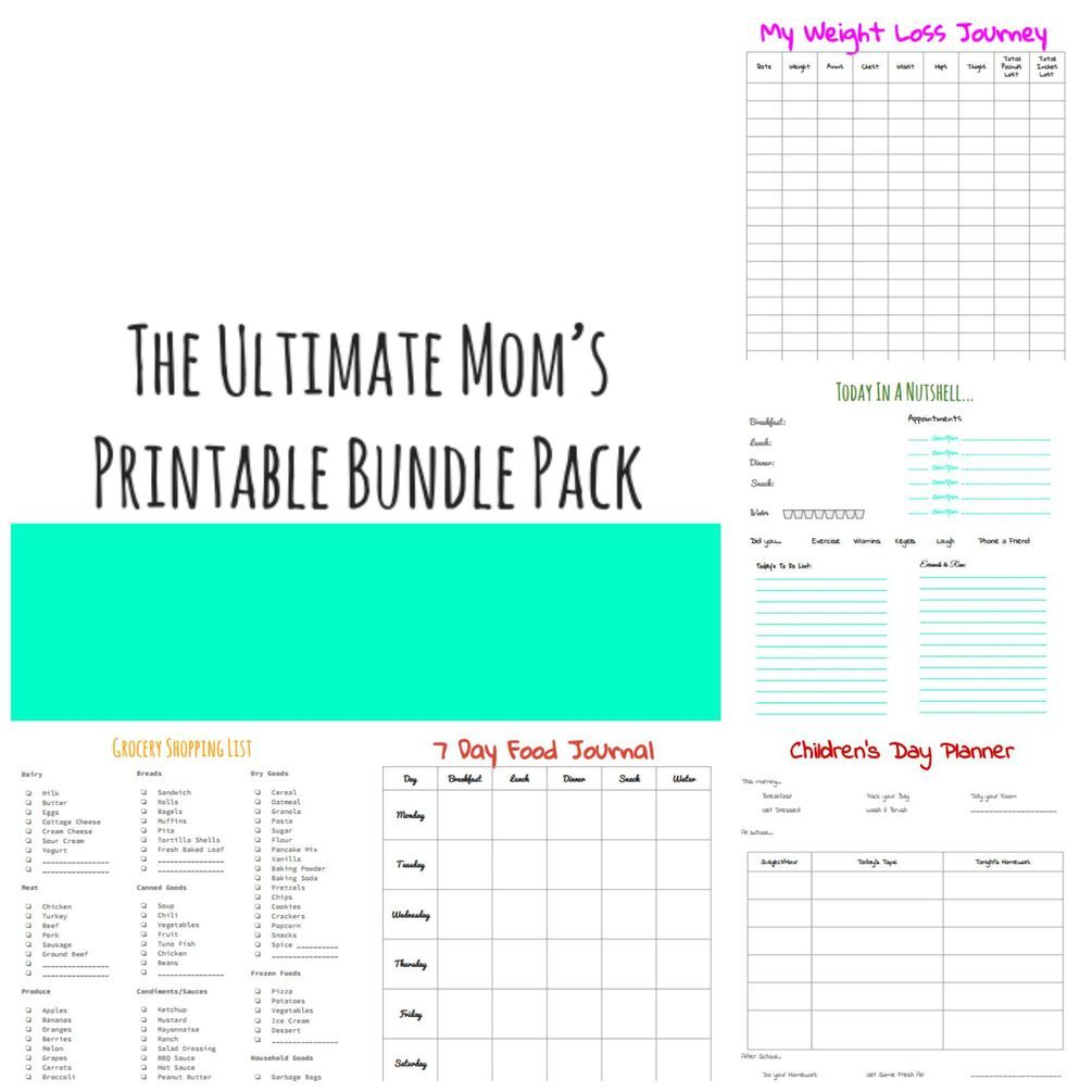 The Ultimate Mom's Printable Bundle Pack