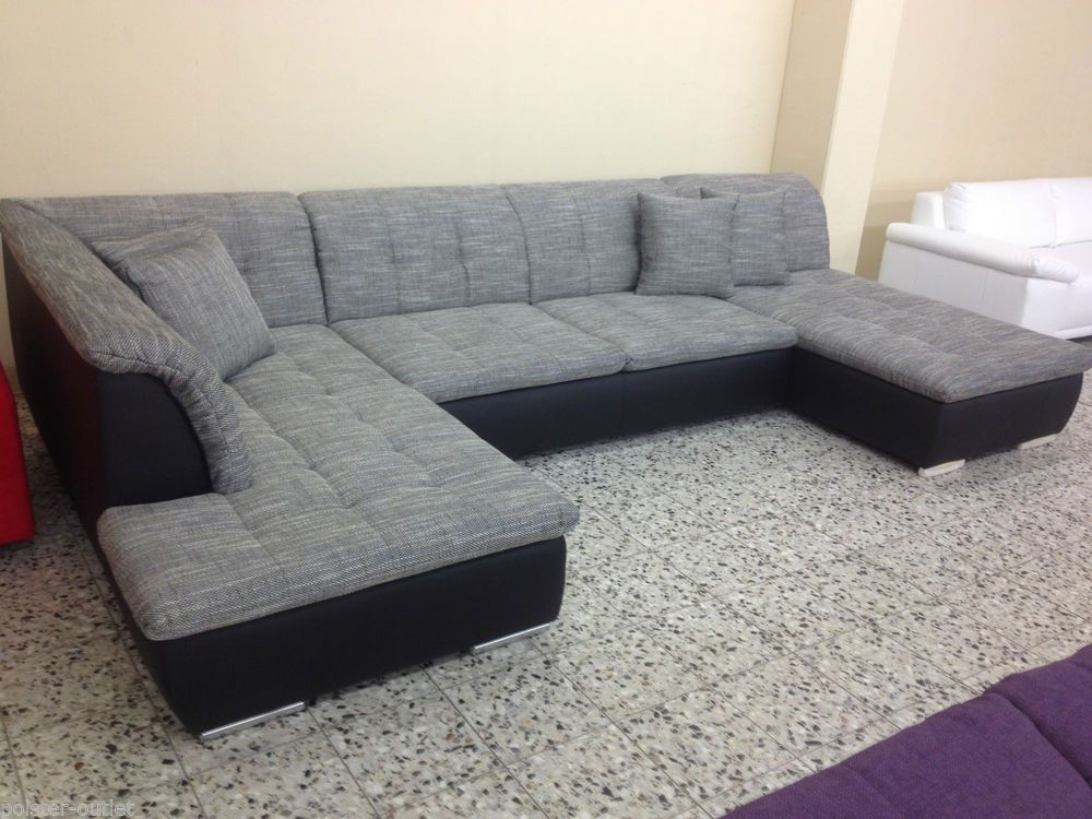 dreams4home polsterecke u-form mike, xxl big sofa ecksofa couch, Wohnideen design
