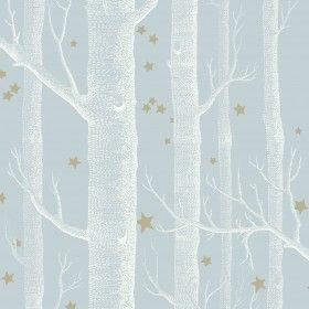 Cole and Son's Whimsical range wallpaper , woods and stars, powder blue,stunning range of modern and classic children's wallpapers online | ...