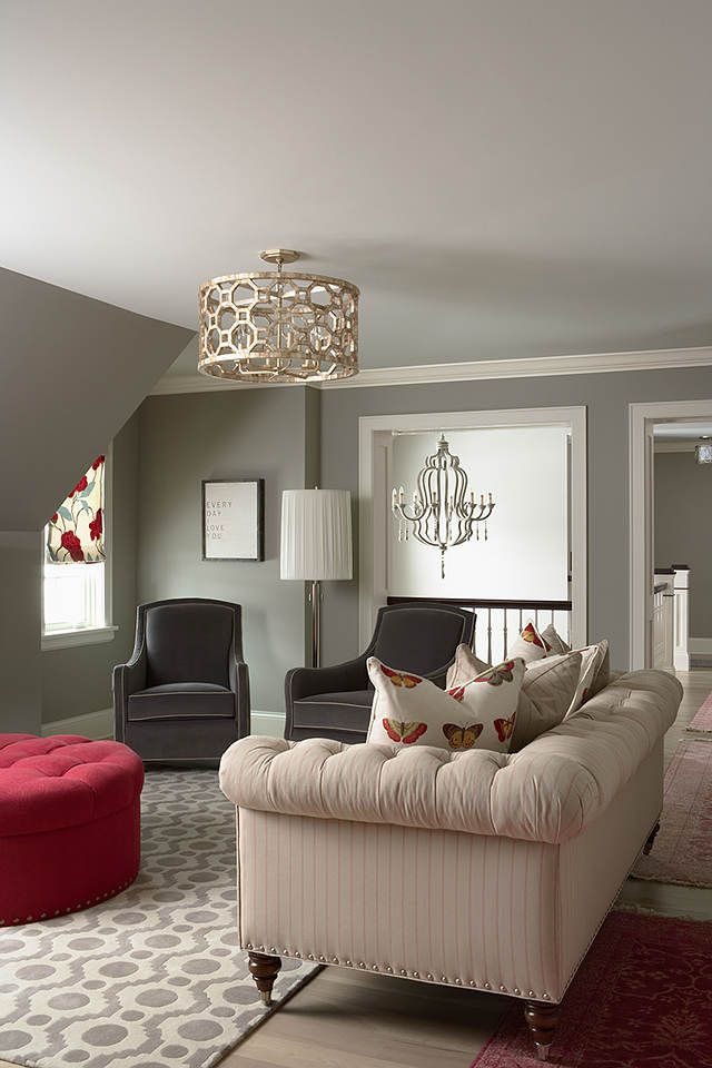 RoomThe walls are Benjamin Moore Northern Cliffs 1536 and the ceiling  . Gray Paint Colors For Living Room. Home Design Ideas