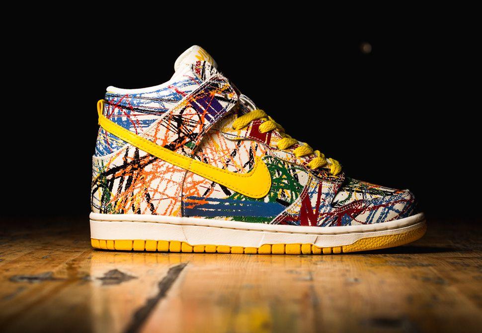 """timeless design 677d6 1a420 Nike Dunk High GS """"Crayon Scribble"""" (2014)"""