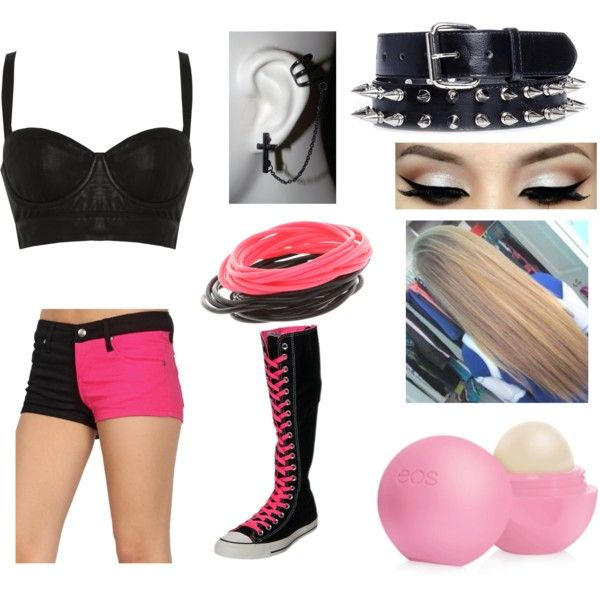Pink and Black WWE Diva Ring Attire by miss-kyla on Polyvore
