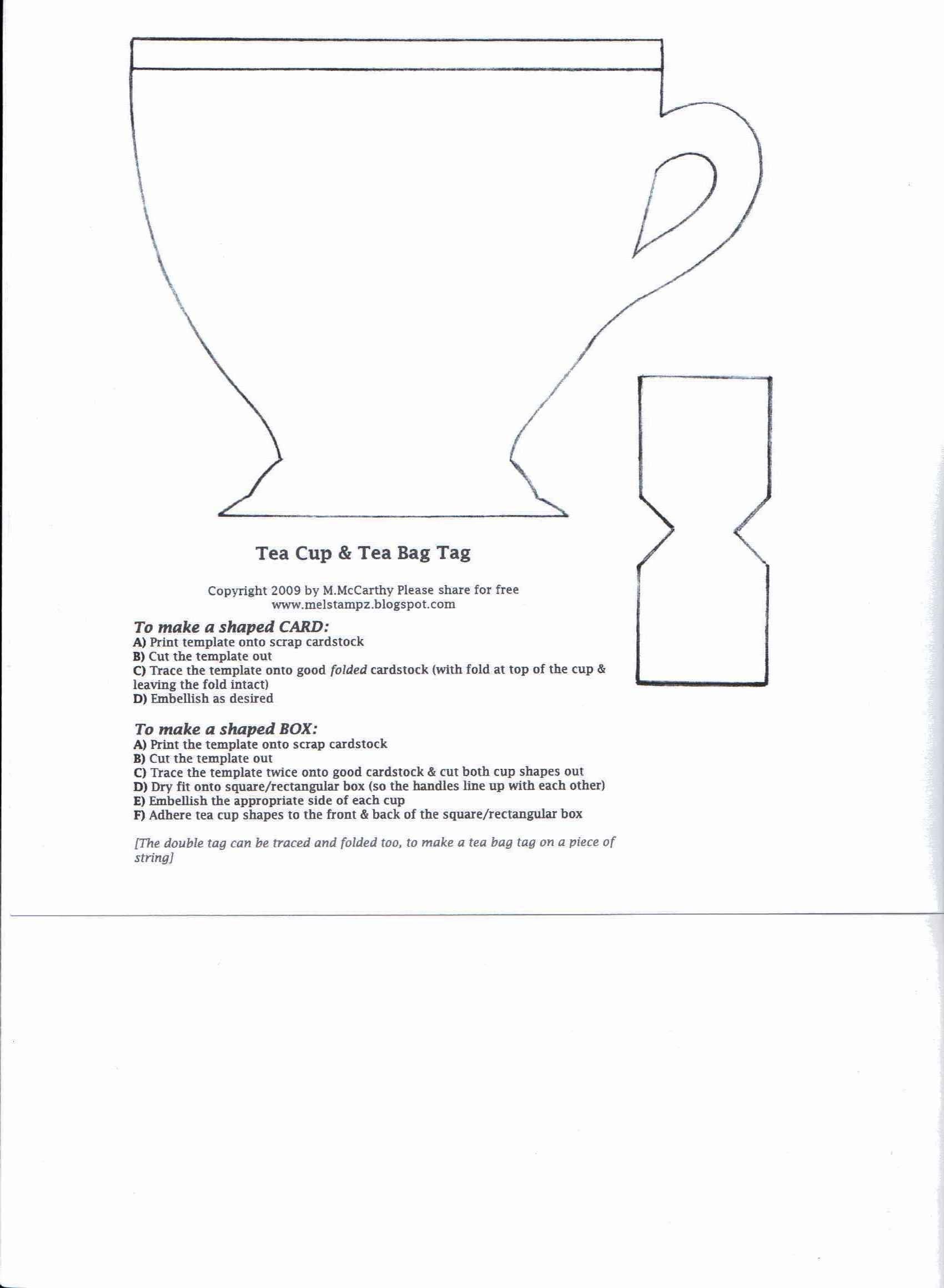 teapot-template.jpg (1700×2320) | Cards | Pinterest | 3d paper ...