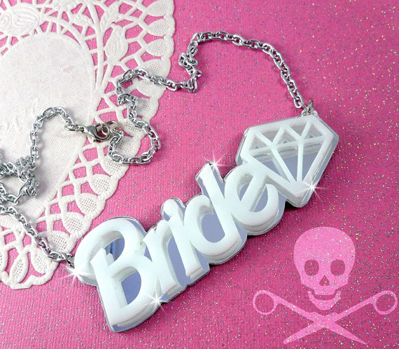 Hey, I found this really awesome Etsy listing at http://www.etsy.com/listing/107781448/bride-laser-cut-acrylic-necklace-in