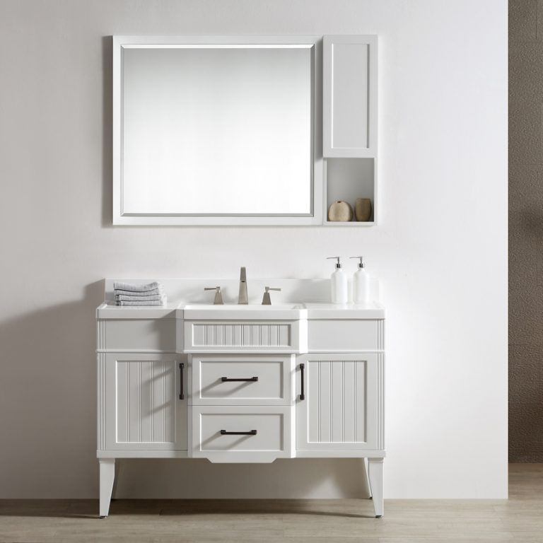 Dowell 46 Inch Bathroom Vanity Model 020 48 01 Color Matte White