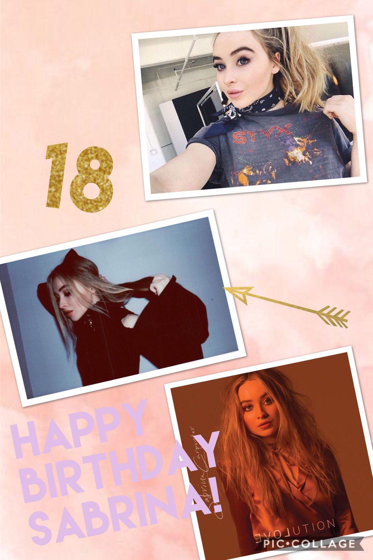 Happy 18 birthday sabby!