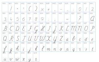 Juf Inger: lettertype Pennenstreken