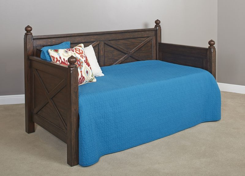 Sutherland Distressed Oak Wooden Daybed | Brianu0027s Furniture