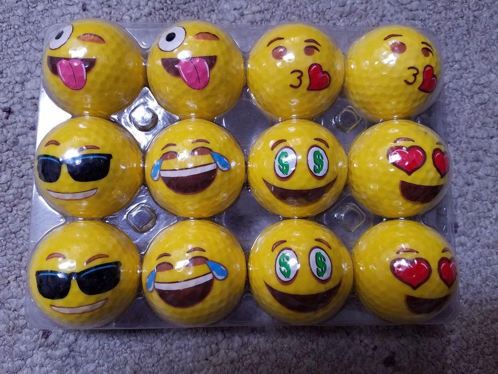 Golf Balls 12 Pack Emoji Balls New Unbranded Golf Golf Ball