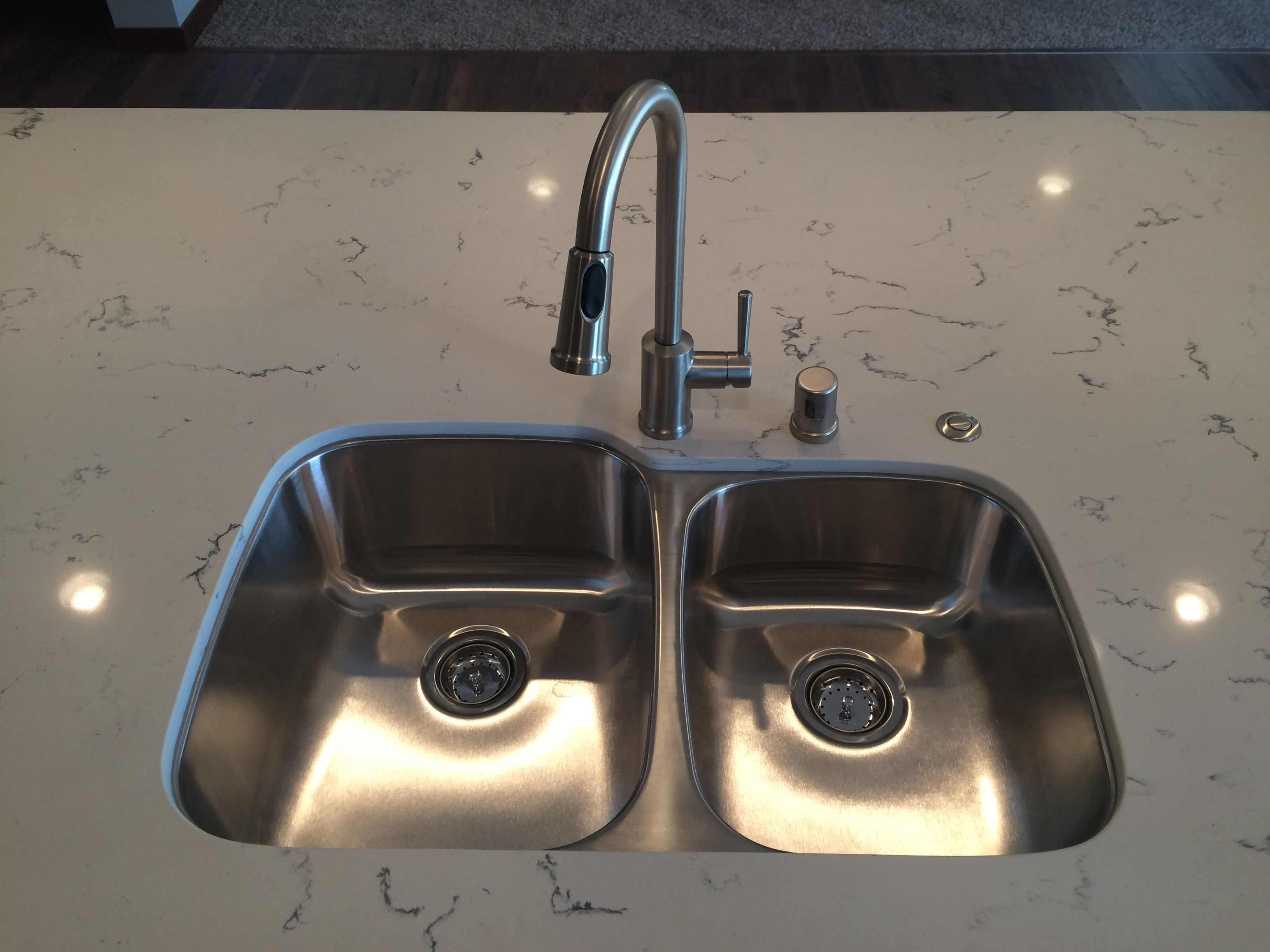 Counter Push Button For The Garbage Disposal For Islands Or To