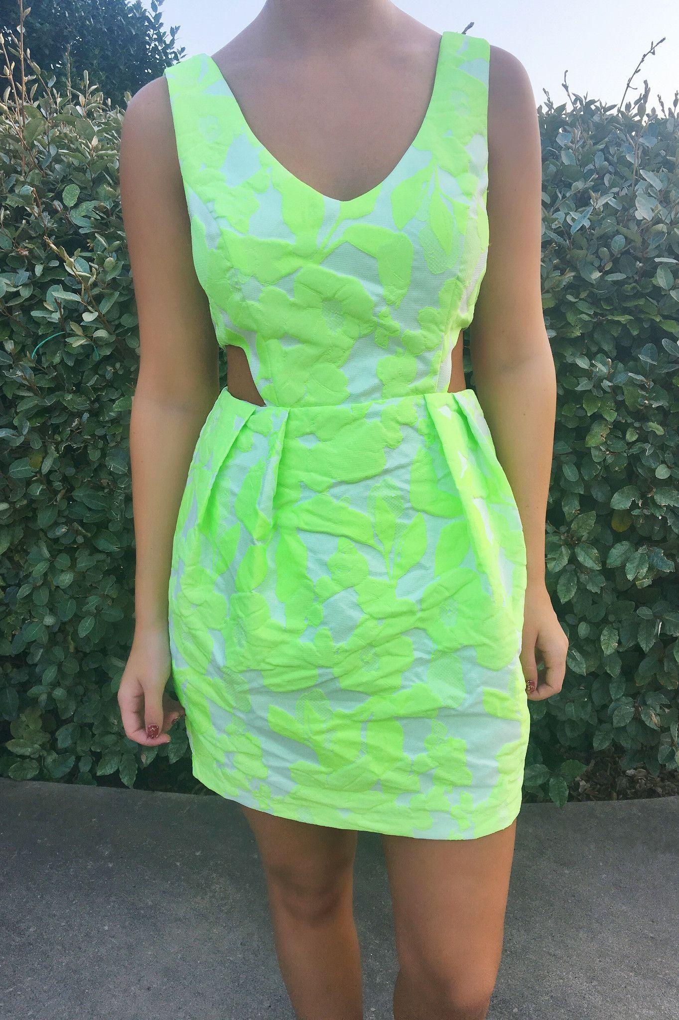 Key Lime Cutout Dress