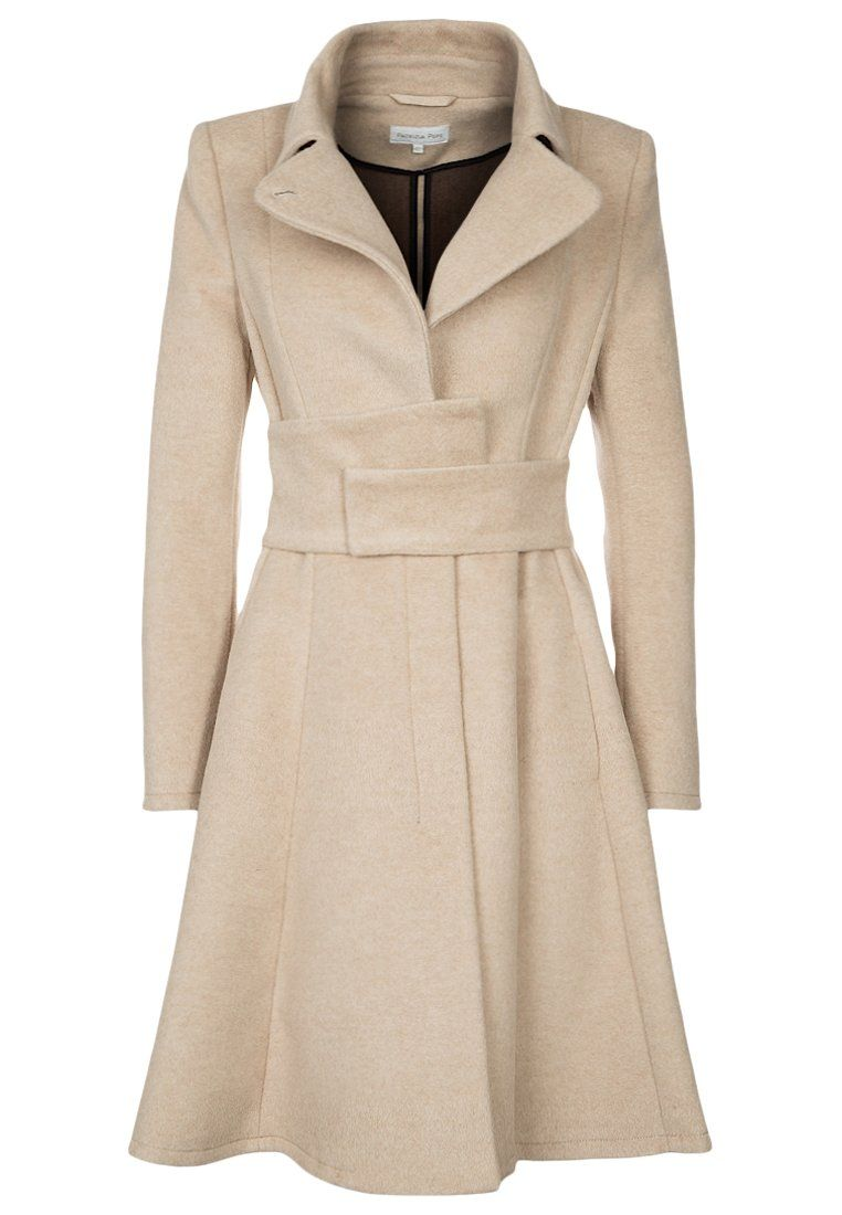Abrigo de paño/clásico - shifting beige