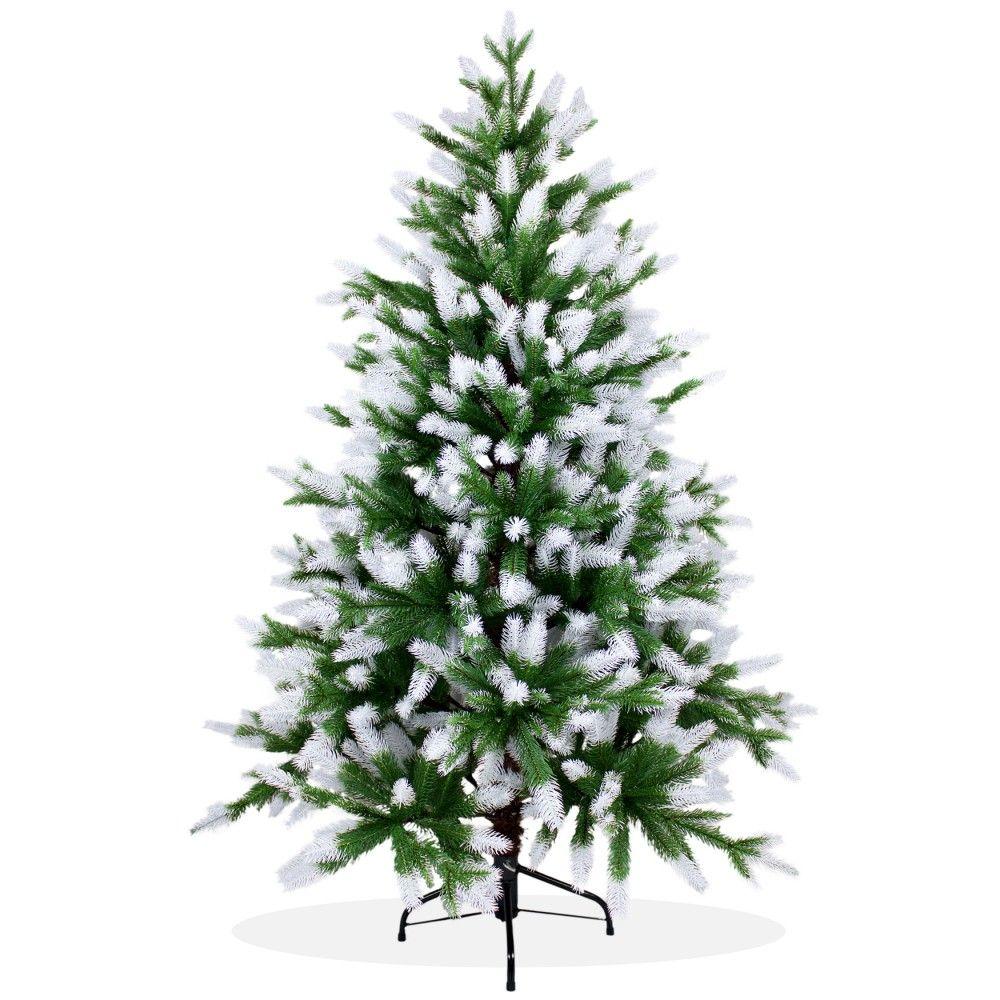 k nstlicher weihnachtsbaum 150cm pe spritzguss beschneiter premium tannenbaum nordmanntanne. Black Bedroom Furniture Sets. Home Design Ideas