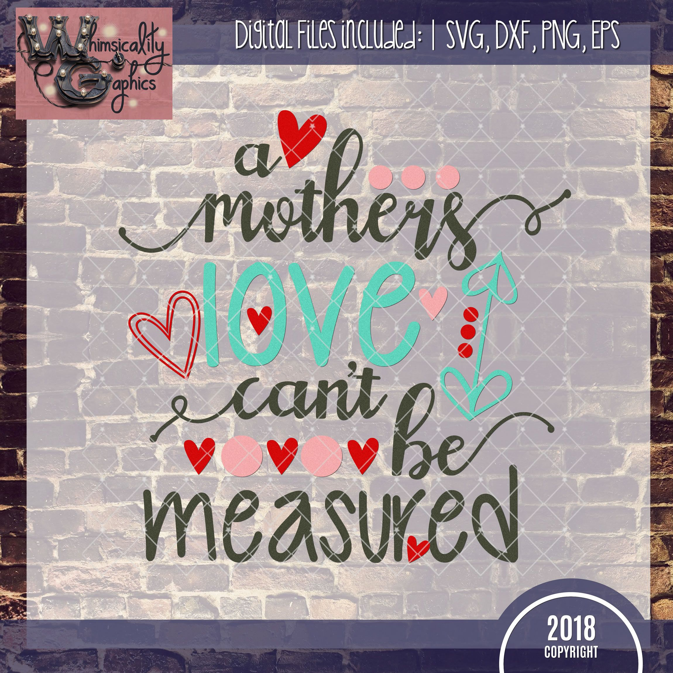 Download A Mother's Love Can't Be Measured SVG, DXF, PNG, EPS ...