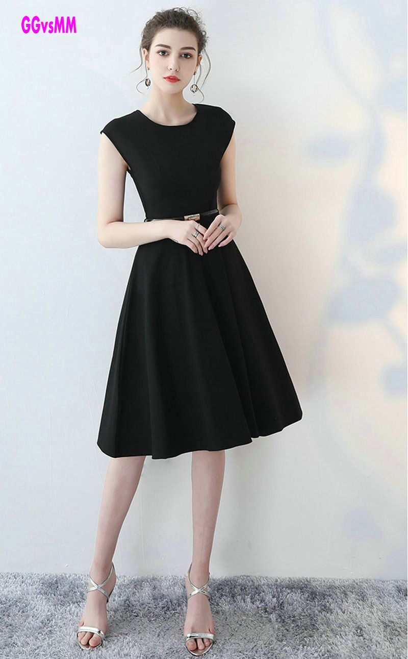 Fashion black evening dresses sexy womanus gown oneck satin