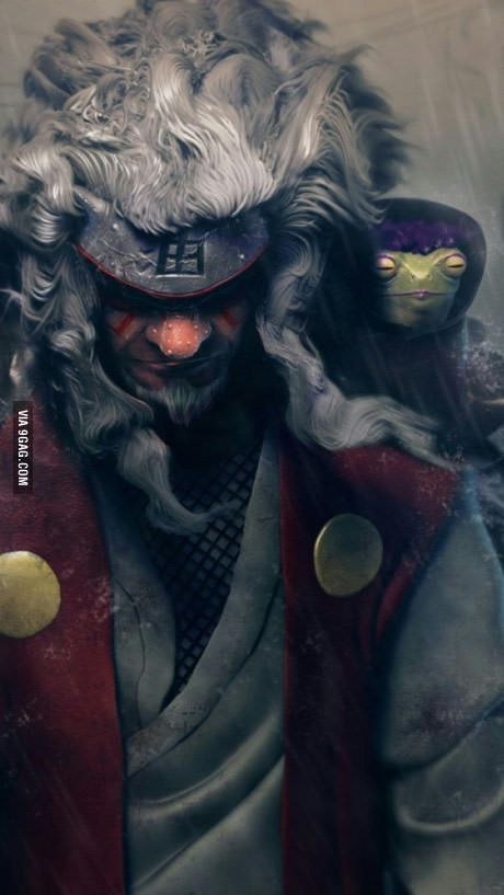 legendary sanin jiraiya sage mode best of 9gag pinterest