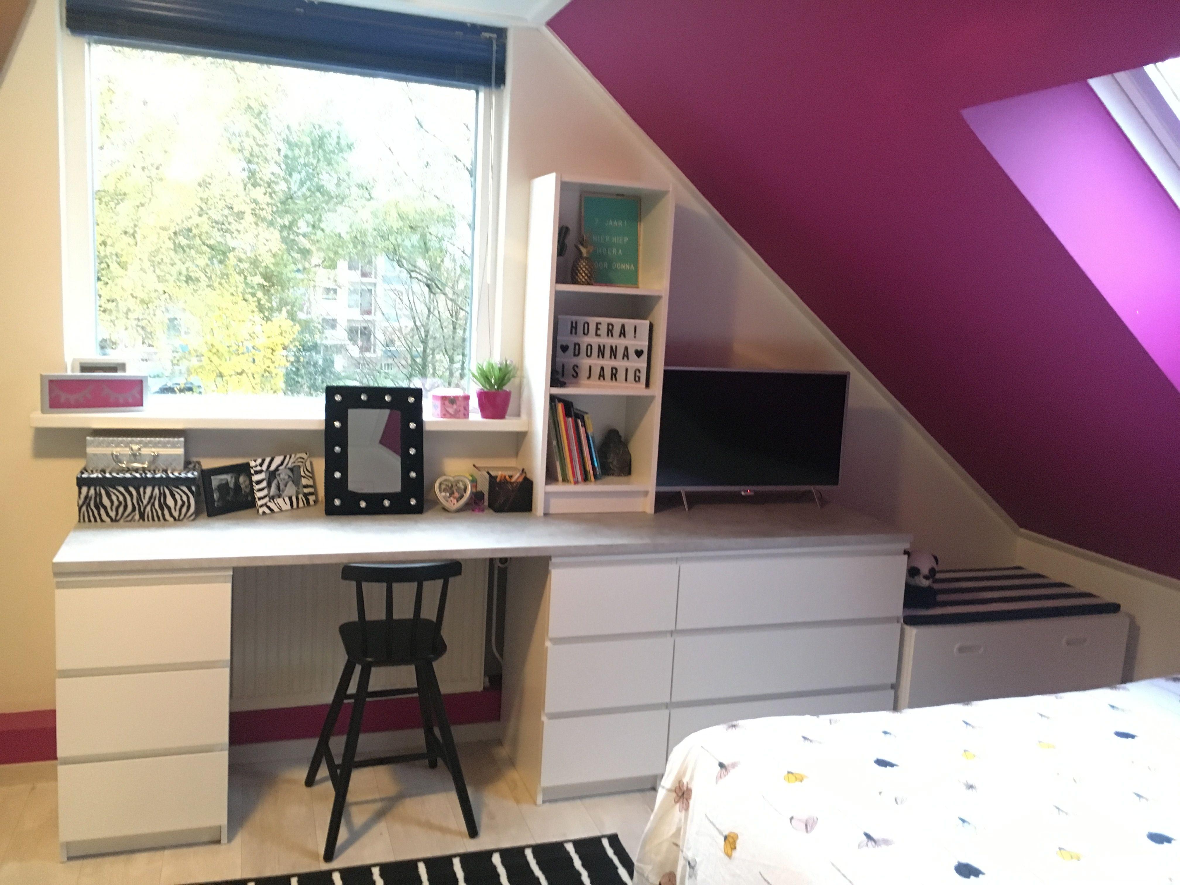 Ikea hack bureau met malm kasten werkblad keuken aanrechtblad