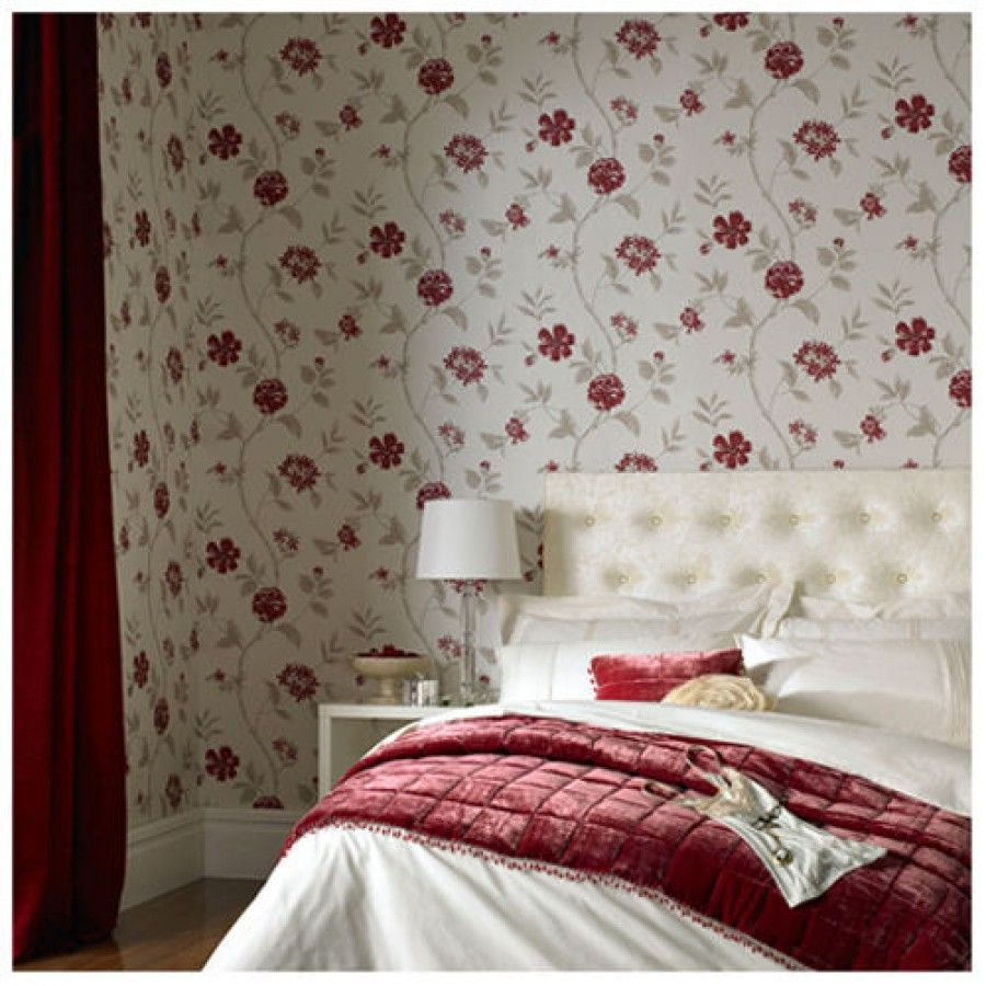 Interior Stunning Tradition Floral Wallpaper Print In