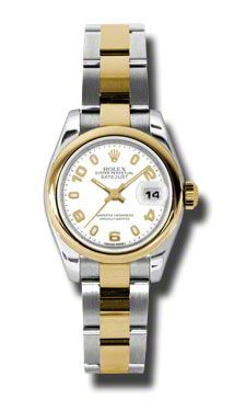 Ladies Rolex Datejust White Dial Automatic Stainless Steel and 18kt Yellow  Gold Women s Watch 179163WASO  6642.00 d8fff36c8