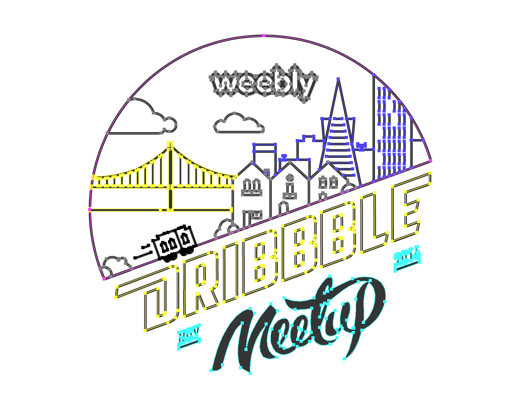 Meetup Logo Selected Png By Vee O Meetup Lettering Logos