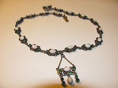 Hermann Bohm Austro Hungarian Enamel Opal Demantoid Green Garnet Necklace C1880 | eBay