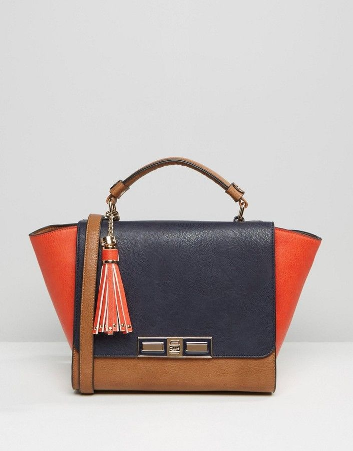 Dune Colour Block Winged Tote Bag