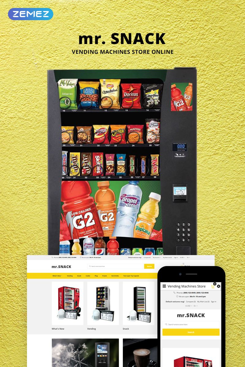 mr.Snack Vending Machines Store OpenCart Template 73699