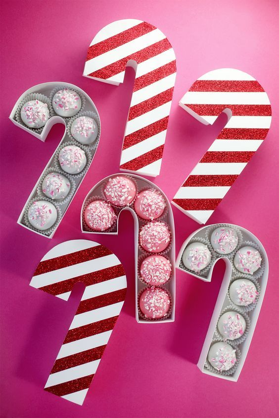 Make This DIY Candy Cane Treat Box for Sweet Treat Gifting