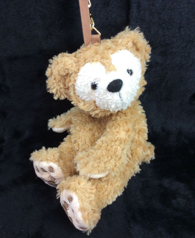 Disney Mickeys Teddy Bear Duffy Wristlet Bag Purse Zipper Plush Stuffed  Animal  Disney f55c6d61412ec
