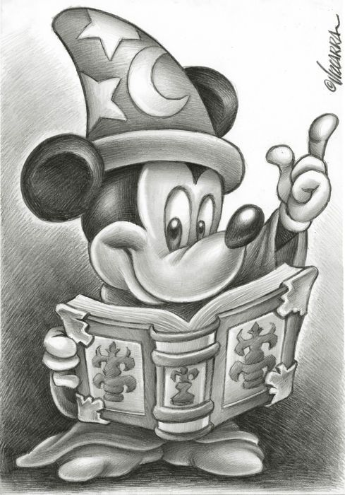 Mickey Mouse The Sorcerers Apprentice By Joan Vizcarra Original