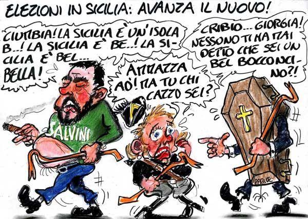 La Vignetta d'Autore di Paride Puglia: elezioni in Sicilia ...