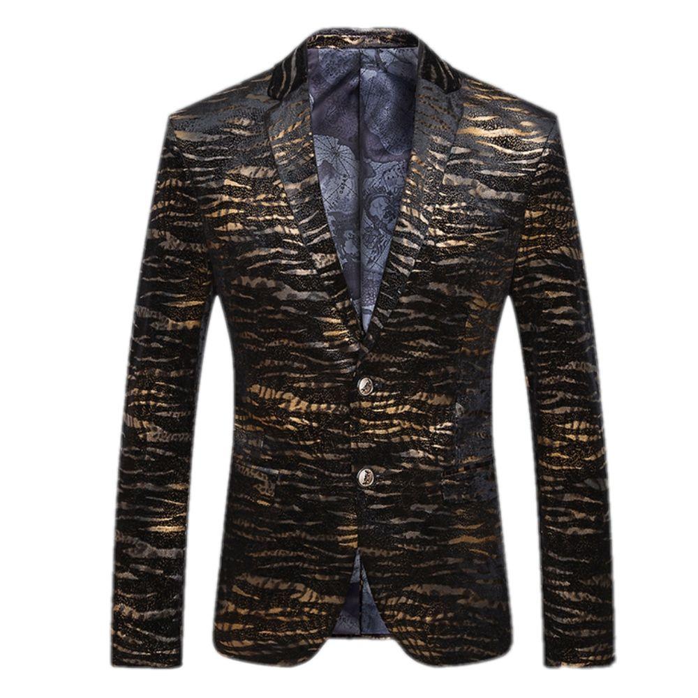 Formal suit for Men Leopard Printed Blazer Fashion suit Male ...