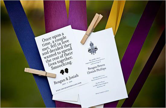 silhouette wedding invites