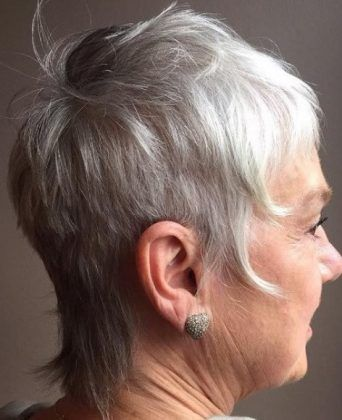 Hairstyles Women Simple Modern Mullet Short Hairstyles For Women Over 50  Grey  Pinterest