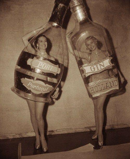 Genie in a gin bottle