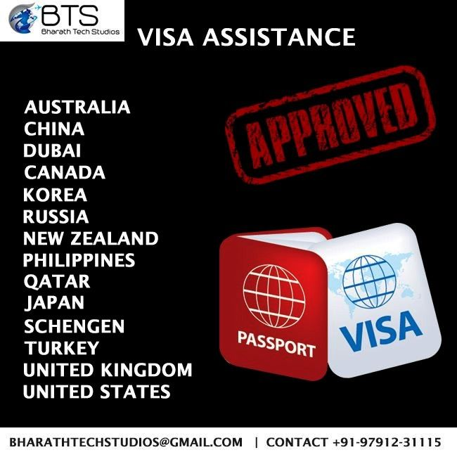 Assistance for all Countries Visa assistance for all countries -    BharathTechStudios | Bharath To