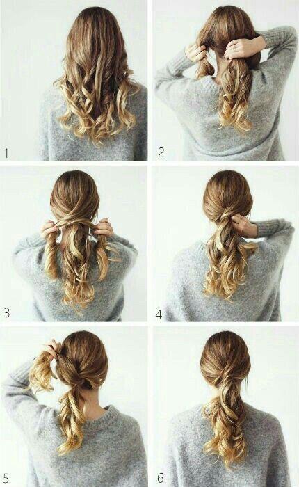 Hairstyles Simple Peinados Simple Hairstyle Hairstyles Peinados Simple Ponytail Hairstyles Easy Work Hairstyles Ponytail Hairstyles Tutorial