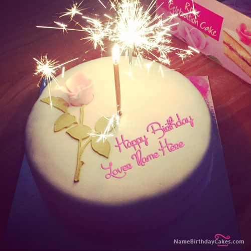 write name on Best Happy Birthday Cake For Lover picture HBD Cake