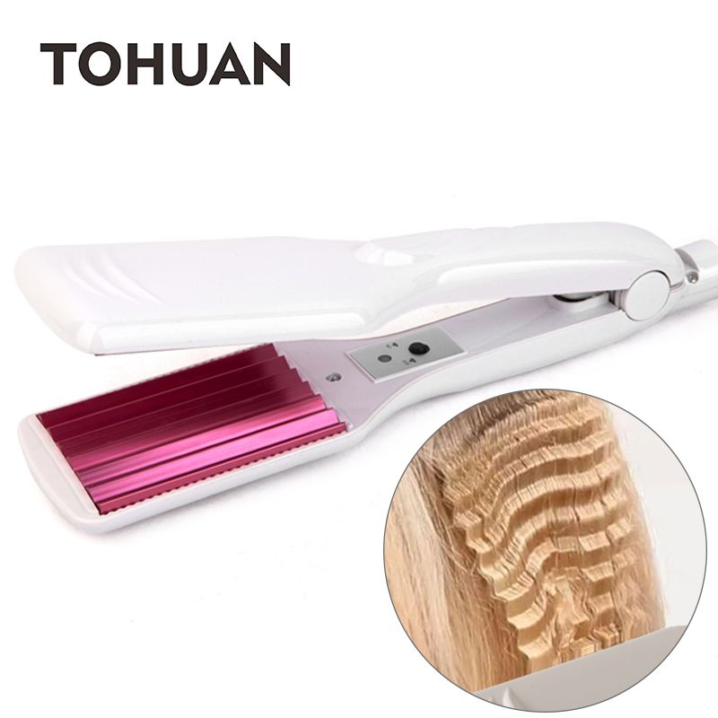 TOHUAN Waves Fluffy Corrugated Iron Fast Heating Hair Flat Iron Wave Crimping Hair Iron Corrugation Hair Crimper Hairstyle Tool    !!!Attention!!! valid discount 40.01% buy now for: 15.88$ #flatironwaves